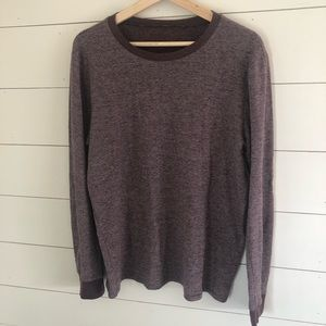 Maroon Long sleeve with texture - M/L